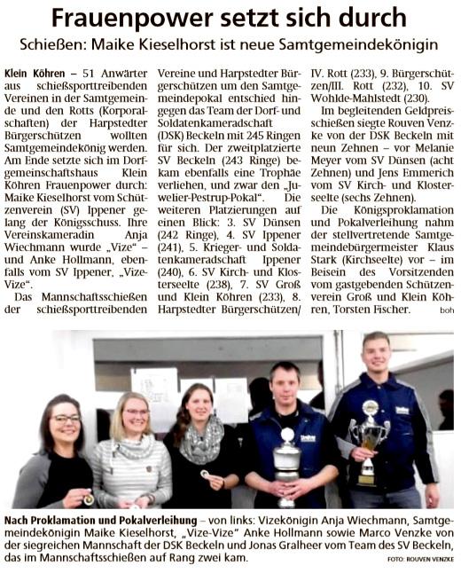 Bericht Kreiszeitung 23/10/2019