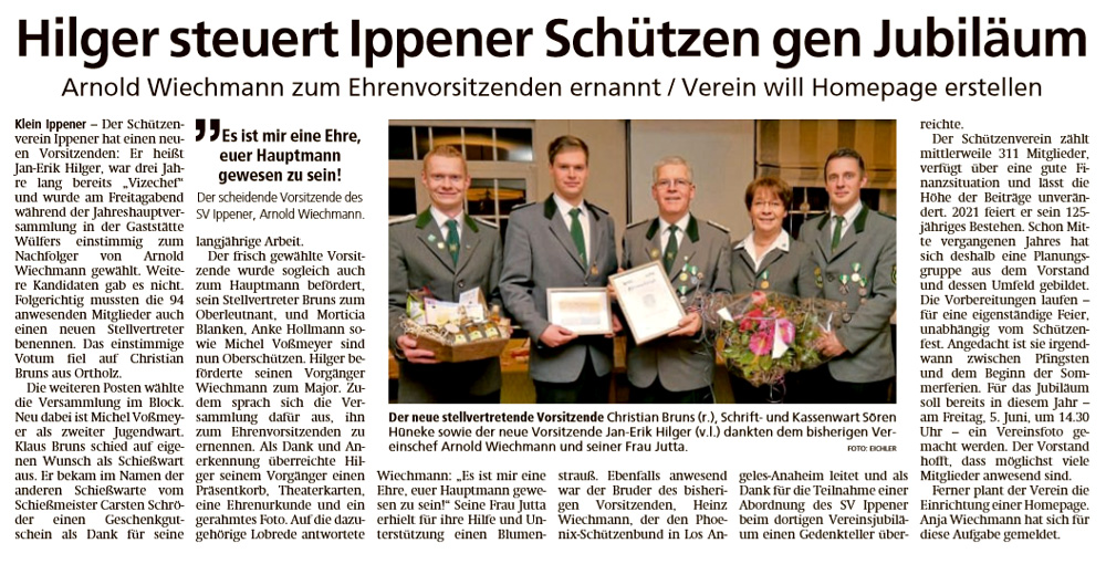 Bericht Kreiszeitung 6/1/2020