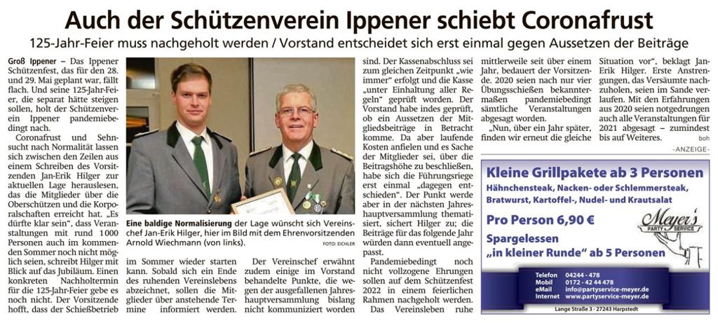 Bericht Kreiszeitung 20/5/2021